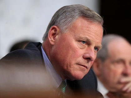 Senate Intelligence Committee Chairman Rep. Richard Burr, R-N.C., and Sen. James Risch, R-Idaho, right, listen to witnesses during a committee's hearing on foreign influence operations and their use of social media on Capitol Hill in Washington, Wednesday, Aug. 1, 2018. As alarms blare about Russian interference in U.S. elections, the …