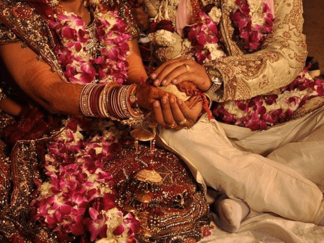 Traditional Indian Wedding. Image Source: Wikimedia Commons.