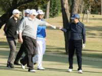 Eyeing decent trade terms, Abe woos 'golf buddy' Trump