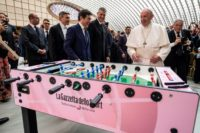 Pope reminds 6,000 youngsters that football 'is a game'