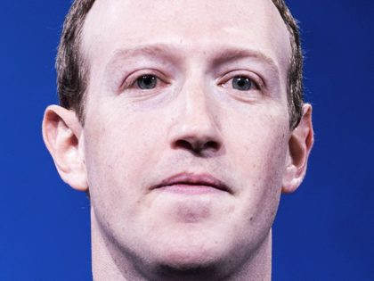 Facebook CEO Mark Zuckerberg closeup