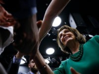 Speaker of the House Nancy Pelosi, D-Calif., greets supporters after speaking at a panel discussion at Delaware County Community College, Friday, May 24, 2019, in Media, Pa. (AP Photo/Matt Slocum)