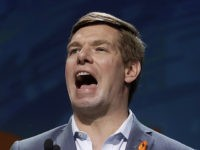 Democratic presidential candidate Rep. Eric Swalwell, of California, speaks during the 2019 California Democratic Party State Organizing Convention in San Francisco, Saturday, June 1, 2019. (AP Photo/Jeff Chiu)