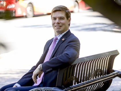 Democratic presidential candidate Rep. Eric Swalwell, D-Calif., poses for a portrait on Capitol Hill in Washington, Tuesday, June 11, 2019. (AP Photo/Andrew Harnik)