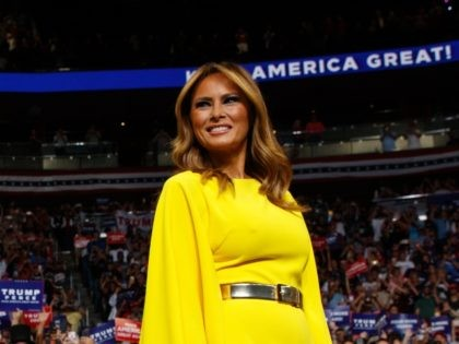 President Donald Trump and first lady Melania Trump arrive at his re-election kickoff rally at the Amway Center, Tuesday, June 18, 2019, in Orlando. (AP Photo/Evan Vucci)