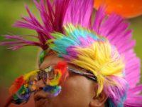 An LGBT pride activist