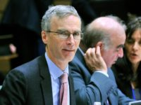 Britain State minister for European issues and NATO David Lidington (L) and minister for International Security Strategy Andrew Murrison are pictured prior to a meeting of the European Unnion foreign affairs and defence ministers on November 18, 2013 at the EU Headquarters in Brussels. This special joint meeting will be …