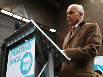 COVENTRY, ENGLAND - APRIL 12: Ben Habib speaks at the launch of the Brexit Party at BG Penny & Co on April 12, 2019 in Coventry, England. Former UKIP leader Nigel Farage has launched the Brexit Party ahead of the European Parliamentary elections, which will take place in May. The …