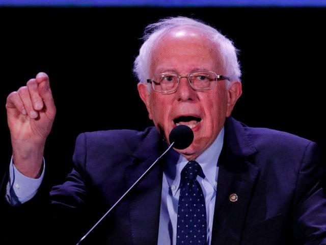 MIAMI, FL - JUNE 21: Democratic U.S. presidential candidate Sen. Bernie Sanders (I-VT) speaks at the Democratic presidential candidates NALEO Candidate Forum on June 21, 2019 in Miami, Florida. (Photo by Joe Skipper/Getty Images)