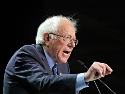 "FILE - In this June 2, 2019, file photo Democratic presidential candidate Sen. Bernie Sanders, I-Vt., speaks during the 2019 California Democratic Party State Organizing Convention in San Francisco. Sanders is lambasting Walmart's board including its CEO for paying its workers what he describes as ""starvation wages"" and introduced a …"