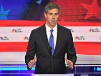 Democratic presidential hopefuls former US Representative for Texas' 16th congressional district Beto O'Rourke participates in the first Democratic primary debate of the 2020 presidential campaign season hosted by NBC News at the Adrienne Arsht Center for the Performing Arts in Miami, Florida, June 26, 2019. (Photo by JIM WATSON / …