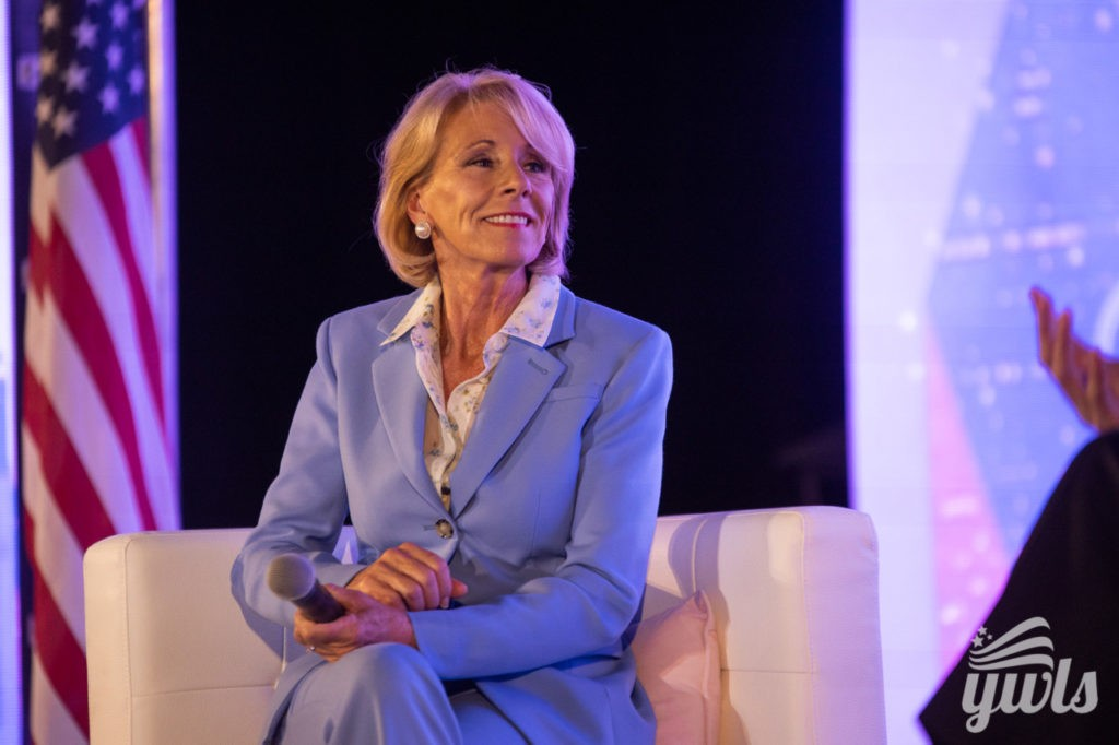 Betsy DeVos speaks at TPUSA event