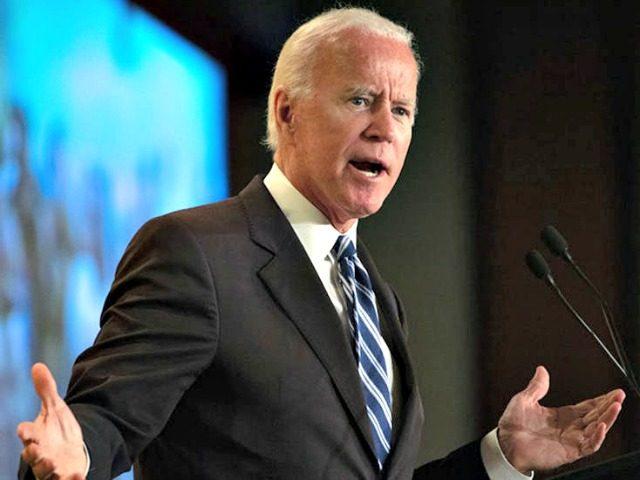 Joe Biden speaks at the International Association of Fire Fighters conference in Washington on March 12.