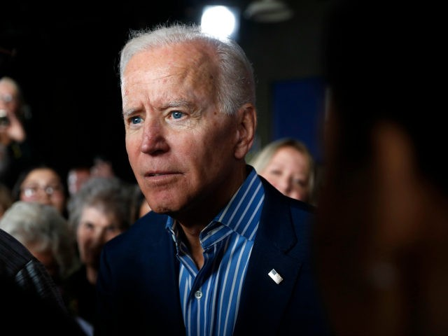 In this May 1, 2019, photo, former Vice President and Democratic presidential candidate Joe Biden greets audience members during a rally in Iowa City, Iowa. Biden's candidacy didn't scare off any of his rivals, who lined up one after another in a race they believed was truly up for grabs. …