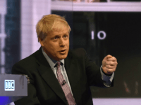 LONDON, ENGLAND - JUNE 18: In this handout photo provided by the BBC, MP Boris Johnson speaks during a Conservative Leadership televised debate on June 18, 2019 in London, England. Emily Maitlis hosts the second of the televised Conservative Leadership debates for the BBC. Boris Johnson, Michael Gove, Jeremy Hunt, …