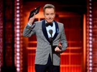 NEW YORK, NEW YORK - JUNE 09: Bryan Cranston accepts the Best Performance by an Actor in a Leading Role in a Play for Network onstage during the 2019 Tony Awards at Radio City Music Hall on June 9, 2019 in New York City. (Photo by Theo Wargo/Getty Images for …