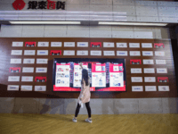 "A woman looks at goods on an electronic screen at a T-Mall exhibition during the Singles Day shopping festival in Shanghai on November 11, 2017. - China's smartphone-wielding masses unleashed billions of dollars in e-commerce spending November 11 as they rushed to snap up bargains on ""Singles Day"" -- billed …"