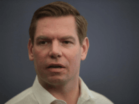 Congressman Eric Swalwell (D-CA) speaks to guests during an event at the Iowa City Public Library on February 18, 2019 in Iowa City, Iowa. Swalwell has been making stops around Iowa talking to voters as he mulls a decision to seek the 2020 Democratic nomination for president. (Photo by Scott …