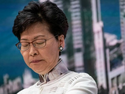 Carrie Lam, Hong Kong's chief executive, speaks during a news conference at Central Government Complex on June 15, 2019 in Hong Kong China. Hong Kong's Chief Executive Carrie Lam announced to delay a controversial China extradition bill and halt its progress on Saturday after recent clashes between the police and …