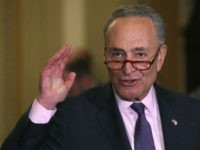 WASHINGTON, DC - MAY 07: Senate Minority Leader Chuck Schumer (D-NY) speaks to the media after attending the Democratic weekly policy luncheon on Capitol Hill May 7, 2019 in Washington, DC. Earlier in the day Senate Majority Leader Mitch McConnell (R-KY) spoke on the Senate floor about the Mueller investigation …