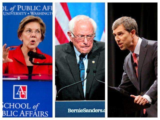 Combo of Elizabeth Warren, Bernie Sanders, and Beto O'Rourke