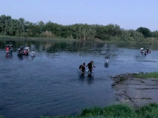 Large group of mostly Haitian migrants cross Rio Grande near Del Rio, Texas. (Photo: U.S. Border Patrol/Del Rio Sector)