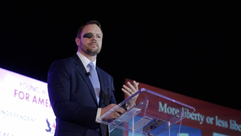 Dan Crenshaw at TPUSA event