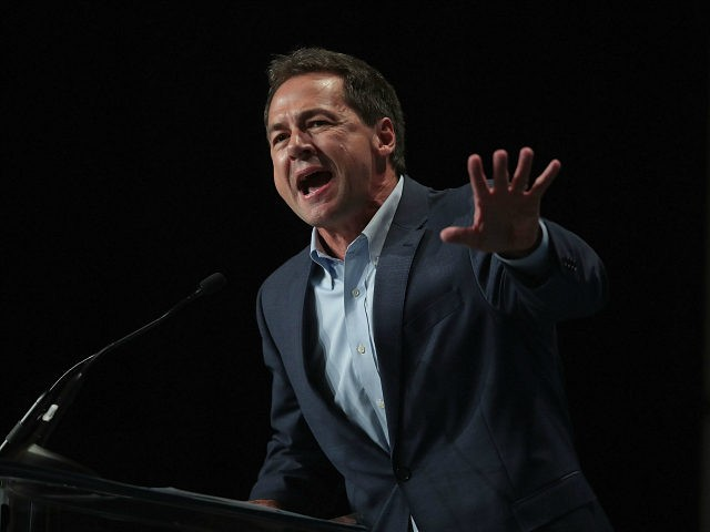 CEDAR RAPIDS, IOWA - JUNE 09: Democratic presidential candidate and Montana governor Steve Bullock speaks at the Iowa Democratic Party's Hall of Fame Dinner on June 9, 2019 in Cedar Rapids, Iowa. Nearly all of the 23 Democratic candidates running for president were campaigning in Iowa this weekend. President Donald …