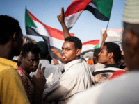 Protestors arrive in the main gathering point to protest against the military junta on April 27, 2019 in Khartoum, Sudan. After months of protesting from the people of Sudan, organised by the Sudanese Professionals' Association (SPA), President Omar al-Bashir was ousted having been in power since 1989. The following day …