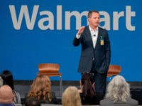 Walmart President and CEO, Doug McMillon, announced today that Walmart will give hiring preference to military spouses, becoming the largest U.S. company to make such a commitment. This announcement came during a Veterans Day ceremony on Monday, Nov. 12, 2018 in Bentonville, Ark. (Gareth Patterson/AP Images for Walmart)