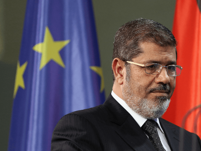 Egyptian President Mohamed Mursi arrives to speak to the media with German Chancellor Angela Merkel (not pictured) following talks at the Chancellery on January 30, 2013 in Berlin, Germany. Mursi has come to Berlin despite the ongoing violent protests in recent days in cities across Egypt that have left at …