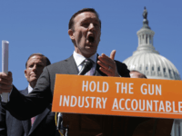Sen. Chris Murphy (D-CT) (C) and Sen. Richard Blumenthal (D-CT) hold a news conference to discuss the Equal Access to Justice for Victims of Gun Violence Act with Democrats from both the House and Senate outside the U.S. Capitol June 11, 2019 in Washington, DC. The Congressional Democrats' legislation 'seeks …