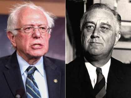 Franklin D. Roosevelt, Bernie Sanders - collage.