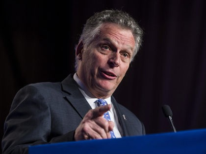 WASHINGTON, DC - APRIL 10: Former Virginia Governor Terry McAuliffe speaks during the North American Building Trades Unions Conference at the Washington Hilton April 10, 2019 in Washington, DC. Many Democrat presidential hopefuls attended the conference in hopes of drawing the labor vote. (Photo by Zach Gibson/Getty Images)