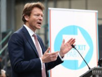 COVENTRY, ENGLAND - APRIL 12: Richard Tice speaks at the launch of the Brexit Party at BG Penny & Co on April 12, 2019 in Coventry, England. Former UKIP leader Nigel Farage has launched the Brexit Party ahead of the European Parliamentary elections, which will take place in May. The …