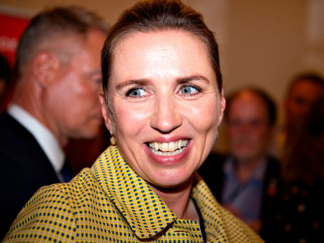 Opposition leader Mette Frederiksen of The Danish Social Democrats after the election results at Christiansborg Castle in Copenhagen early June 6, 2019, during the country's parliamentary elections. - The likely future prime minister of Denmark, Mette Frederiksen, embodies the new Danish Social Democratic model, with a new-found focus on restrictive …