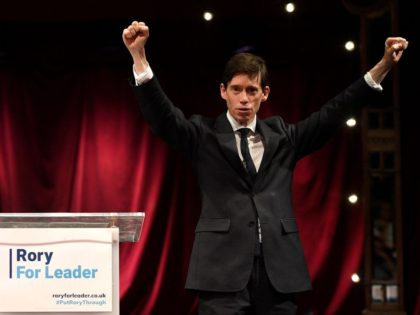 LONDON, ENGLAND - JUNE 11: Rory Stewart OBE MP, Secretary of State for International Development formally launches his bid to become the new leader of the Conservative Party and Prime Minister of the United Kingdom at the Udderbelly Festival Southbank on June 11, 2019 in London, England. Since Theresa May …