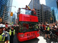 Two Shot at Toronto Raptors' Championship Parade