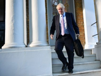Conservative MP and Conservative leadership contender Boris Johnson leaves his home in London on June 20, 2019. - Conservative MPs will decide on June 20 who will join Boris Johnson in the final two battling become Britain's next prime minister, with three contenders jostling for the second spot. (Photo by …