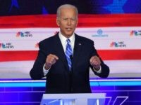 Democratic presidential hopeful former US Vice President Joseph R. Biden Jr. speaks during the second Democratic primary debate of the 2020 presidential campaign season hosted by NBC News at the Adrienne Arsht Center for the Performing Arts in Miami, Florida, June 27, 2019. (Photo by SAUL LOEB / AFP) (Photo …