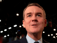 Democratic presidential hopeful US Senator for Colorado Michael Bennet speaks to the press in the Spin Room after participating in the second Democratic primary debate of the 2020 presidential campaign season hosted by NBC News at the Adrienne Arsht Center for the Performing Arts in Miami, Florida, June 27, 2019. …