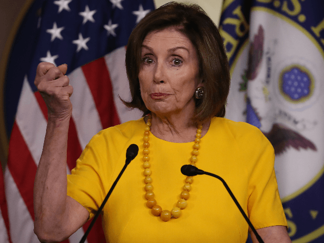 House Speaker Nancy Pelosi (D-CA) speaks during her weekly news conference on Capitol Hill, June 20, 2019 in Washington, DC. Speaker Pelosi spoke on several topics including former Vice President Joe Biden, Iran and House investigations into the Trump administration. (Photo by Mark Wilson/Getty Images)