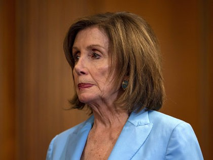 WASHINGTON, DC - JUNE 26: U.S. House Speaker Nancy Pelosi (D-CA) attends a press conference on passing the America's Elections Act on June 26, 2019 in Washington, DC. The SAFE Act bill includes reforms to safeguard voting systems and modernize election infrastructure in an effort to lower the likelihood of …