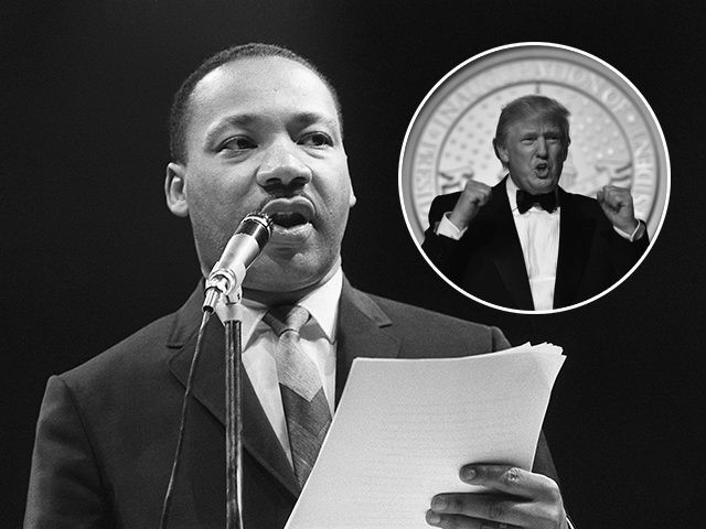 "(INSERT: President Donald Trump) The US clergyman and civil rights leader Martin Luther King addresses, 29 March 1966 in Paris' Sport Palace the militants of the ""Movement for the Peace"". ""Martin Luther King was assassinated on 04 April 1968 in Memphis, Tennessee. James Earl Ray confessed to shooting King and …"
