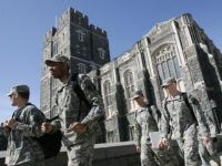 West Point, UNITED STATES: US Army cadets make their way through campus 30 March 2007 at the United States Military Academy in West Point, NY. AFP PHOTO/DON EMMERT (Photo credit should read DON EMMERT/AFP/Getty Images)