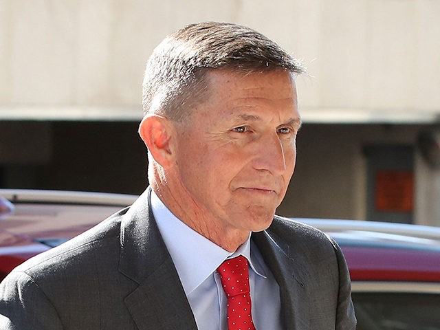 WASHINGTON, DC - JULY 10: Michael Flynn, former national security advisor to President Donald Trump, arrives at the E. Barrett Prettyman Federal Courthouse for a status hearing July 10, 2018 in Washington, DC. Special Counsel Robert Mueller has charged Flynn with one count of making a false statement to the …