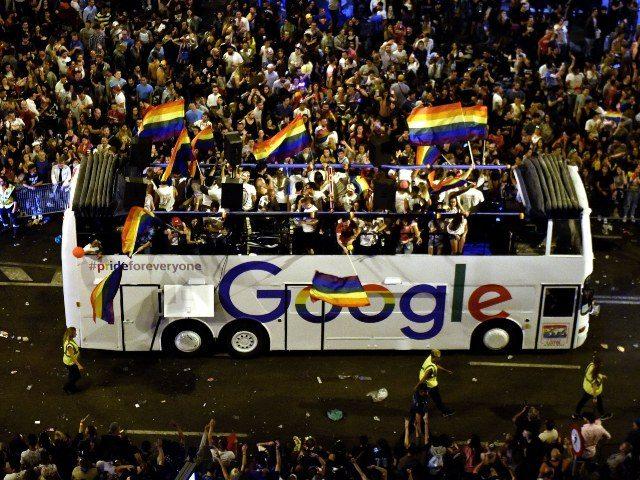Google LGBT pride bus