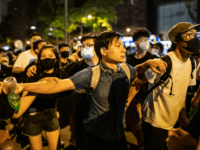 Pro independence activist Wayne Chan during a clash after a rally against the extradition law proposal at the Central Government Complex on June 10, 2019 in Hong Kong China. Over a million protesters marched in Hong Kong on Sunday against a controversial extradition bill that would allow suspected criminals to …