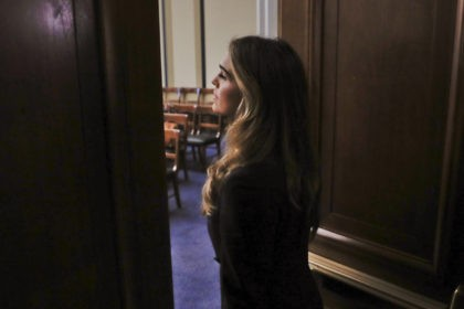 Former White House communications director Hope Hicks arrives for closed-door interview with the House Judiciary Committee, at the Capitol in Washington, Wednesday, June 19, 2019. (AP Photo/Pablo Martinez Monsivais)