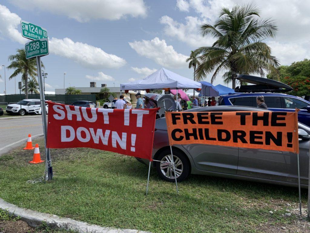 Homestead detention center protest (Joel Pollak / Breitbart News)